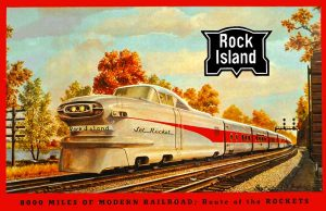 Rock Island Railroad Rocket streamliner.