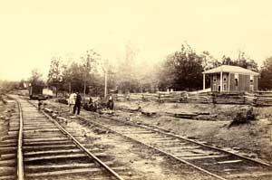 Appomattox Station, virginia by Timothy H. O'Sullivan, 1865.