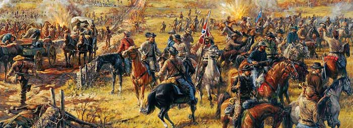 The Battle of Westport, Missouri by Andy Thomas.