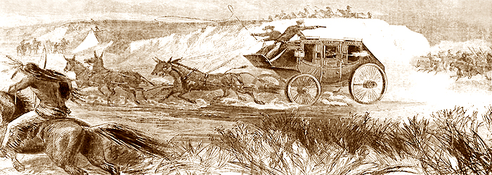 Butterfield Overland Despatch by Harpers Weekly, 1866.