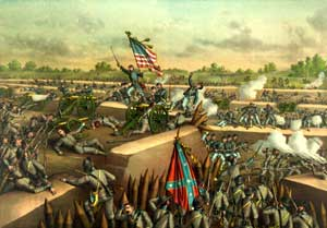 The Fall of Petersburg in April 1865 by Kurz & Allison.