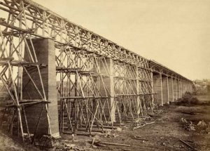 High bridge near Farmville, Virginia by Timothy H. O'Sullivan, 1865.