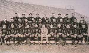Frank McDonald in front-center with the Haskell Institute footbal lteam, 1926.