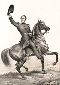 Union General Nathaniel Lyon Was killed in the Battle of Wilson's Creek near Springfield, Missouri.
