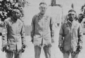 Students from the Haskell instutute staffed the Indian Village in the summer of 1930.