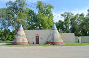 Old Teepee restaurant in Lawrence, Kansas today by Kathy Weiser-Alexander.