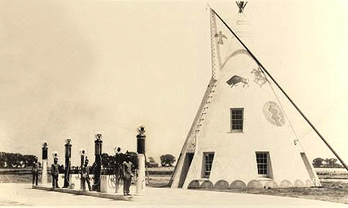 Indian Village First Teepee, Lawrence, Kansas
