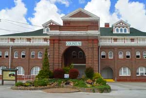The Coliseum Building was built in 1906 on the State Fair Grounds in Sedalia, Missouri by Kathy Weiser-Alexander.