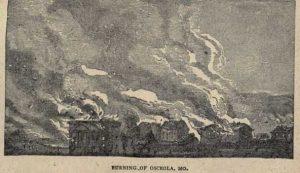 The Burning of Osceola, Missouri, illustration by James W. Buel 1880.
