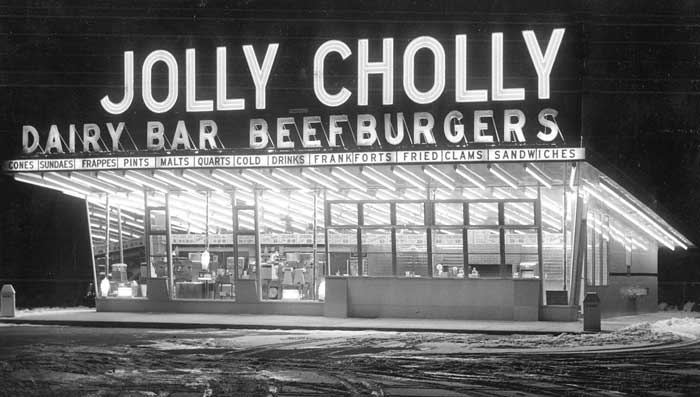 Jolly Cholly Beef Burgers courtesy Sun Chronicle.