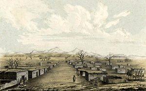 Historic La Mesilla, New Mexico.