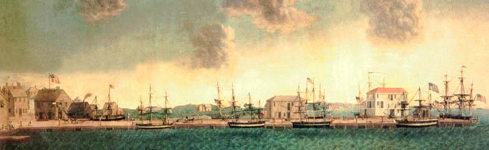 Crowninshield Wharf in Salem, Massachusetts.