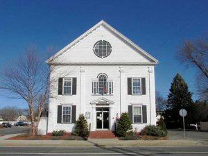 Salisbury, Massachusetts Town Hall courtesy Wikimedia.