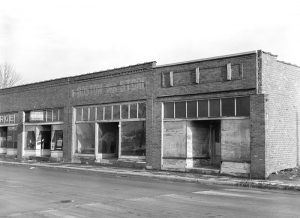 Abandoned stores in Ziegler, Illinois by Arthur Rothstein, 1939.