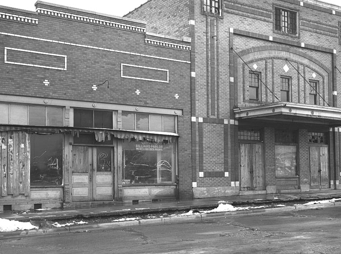 Abandoned buildings in Ziegler, Illinois by Arthur Rothstein, 1939.