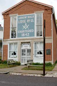 Arrow Rock, Missouri Lodge No. 55 by Kathy Weiser-Alexander.