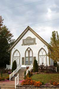 Arrow Rock Baptist Church/Lyceum Theater in Arrow Rock, Missouri by Kathy Weiser-Alexander.