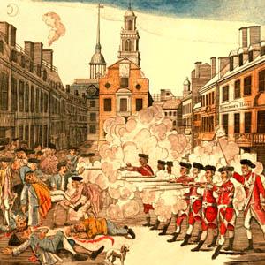 Boston Massacre by Sidney L. Smith, 1908.