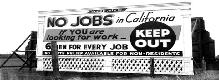 No jobs in Callifornia.