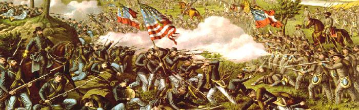 Battle of Chickamauga, Georgia by Kurz & Allison, 1890.