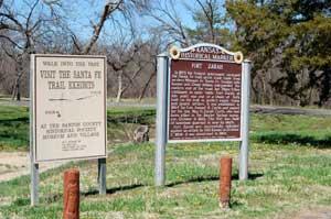 Fort Zarah site in Barton County, Kansas by Kathy Weiser-Alexander.