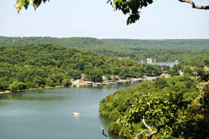 Niangua Arm of Lake of the Ozarks, from the Haha Tonka Mansion by Kathy Weiser-Alexander.