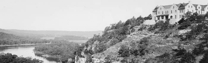 Haha Tonka Mansion, Lake of the Ozarks, Missouri, 1930s.