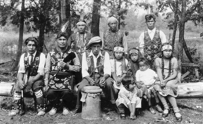 Menominee Indian Family