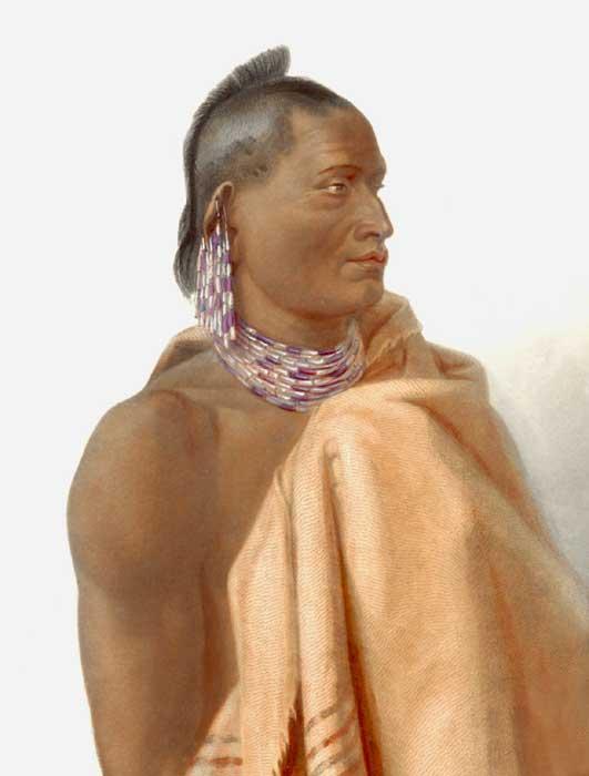 Missouri Indian by Carl Bodmer.