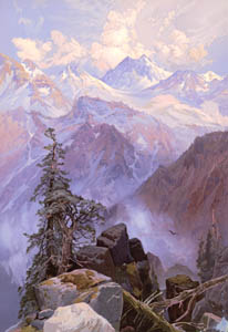 Sierra Nevada Mountain Range by Thomas Moran, 1875.
