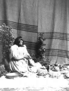 Washoe Basketmaker, 1900.