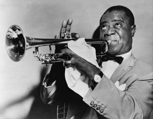 Louis Armstrong, famous Jazz musician.