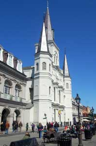 St. Louis Cathedral in New Orleans by Kathy Weiser-Alexander.