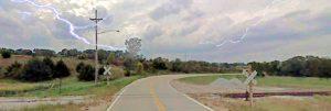 Seven Sisters Road southeast of Nebraska City, Nebraska.