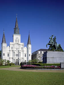 St. Louis Cathedral on Jackson Square in New Orleans by Carol Highsmith.