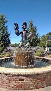 Popeye Fountain in Alma, Arkansas courtesy Wikipedia.
