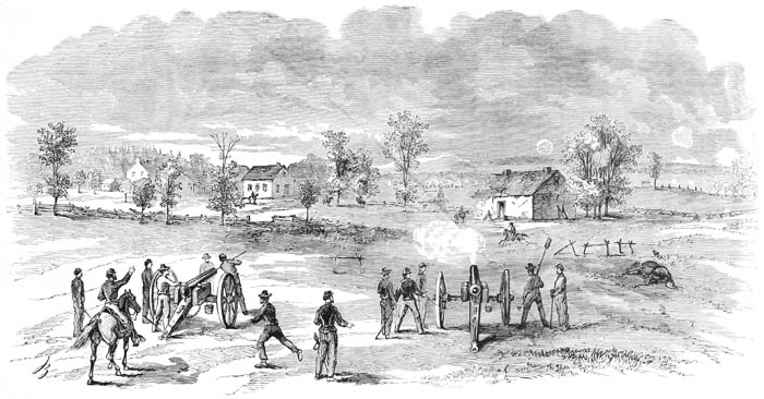 Battle of Summit Point, West Virginia by Frank Leslie.