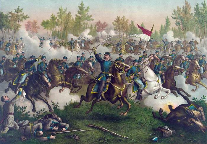 Battle of Cedar Creek, Virginia by Kurz & Allison.