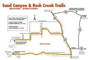 Canyon of the Ancients Map by the Bureau of Land Management.
