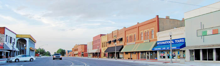 Downtown El Reno, Oklahoma by Kathy Weiser-Alexander.