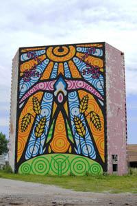 El Reno, Oklahoma building mural by Kathy Weiser-Alexander.