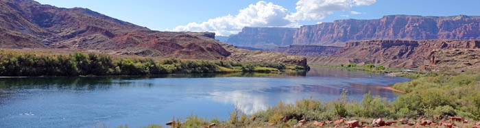 Lees Ferry site at Glen Canyon, Arizona by the National Park Service.