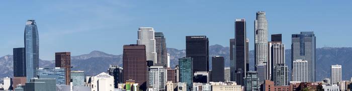 Skyline view of Los Angeles, California by Carol Highsmith.