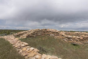 Ruins of Lowry Pueblo with the Canyons of the Ancients National Monument by Carol Highsmith.