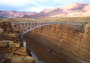 Navajo Bridge Spanning the Colorado River, Glen Canyon National Recreation Area, Arizona by Brian Grogan, 1993.