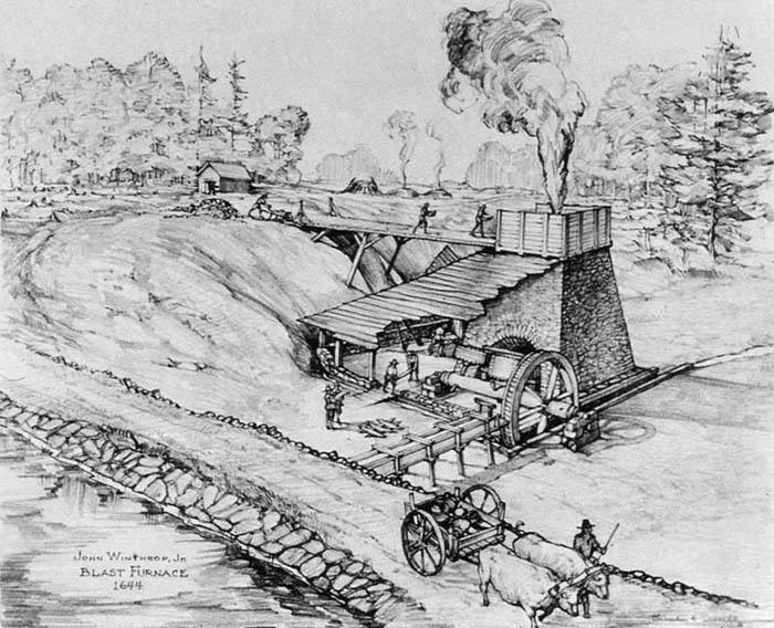 Saugus, Massachusetts Blast Furnace, 1644.