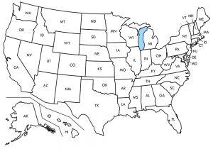 U.S. State Map