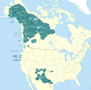 Athabaskan Llanguages courtesy Wikipedia.