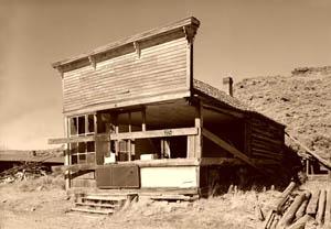 The Carissa Saloon before restoration.