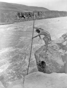 Chinook man fishing.